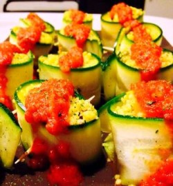 involtini di zucchine con cous cous