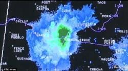 Sciame insetti sul radar