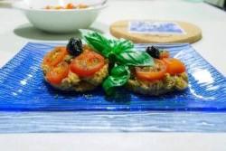 Tartine di polenta taragna