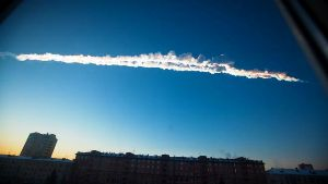 Ufo distrugge meteorite 2013 1.2