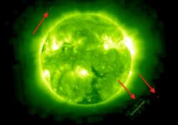 Oggetti spaziali vicino sole