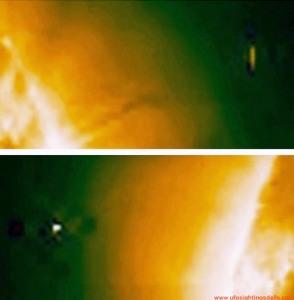 Oggetti spaziali vicino sole soho