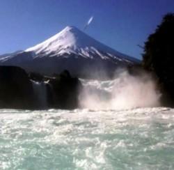 Ufo sul vulcano Esorno in Cile