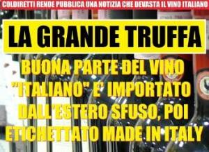 Truffa vino italiano
