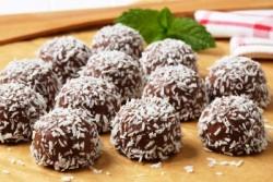 Palline di cioccolato e cocco