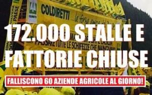 Stalle e fattorie chiuse in Italia