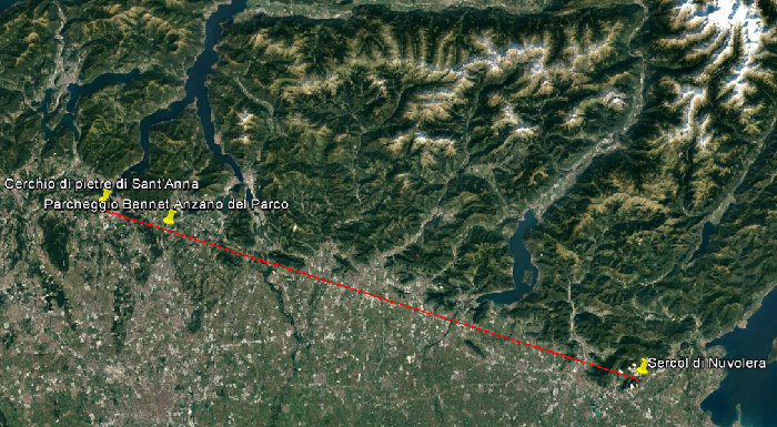 Linea cerchi megalitici Lombardia